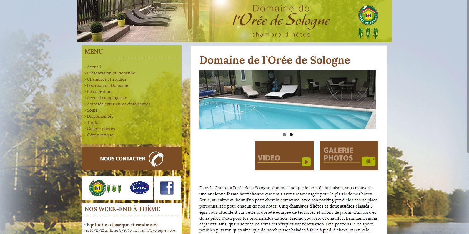 gite - chambres d'hôtes - Domaine de l'Orée de Sologne - www.oree-de-sologne.com