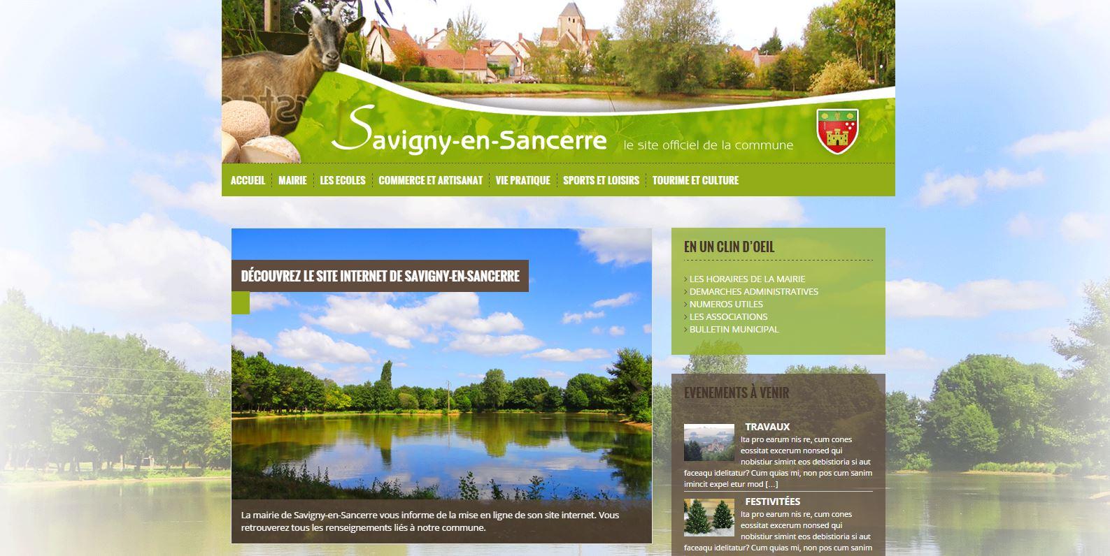 mairie de Savigny-en Sancerre - projet en cours - OFF LINE : PROJET EN COURS