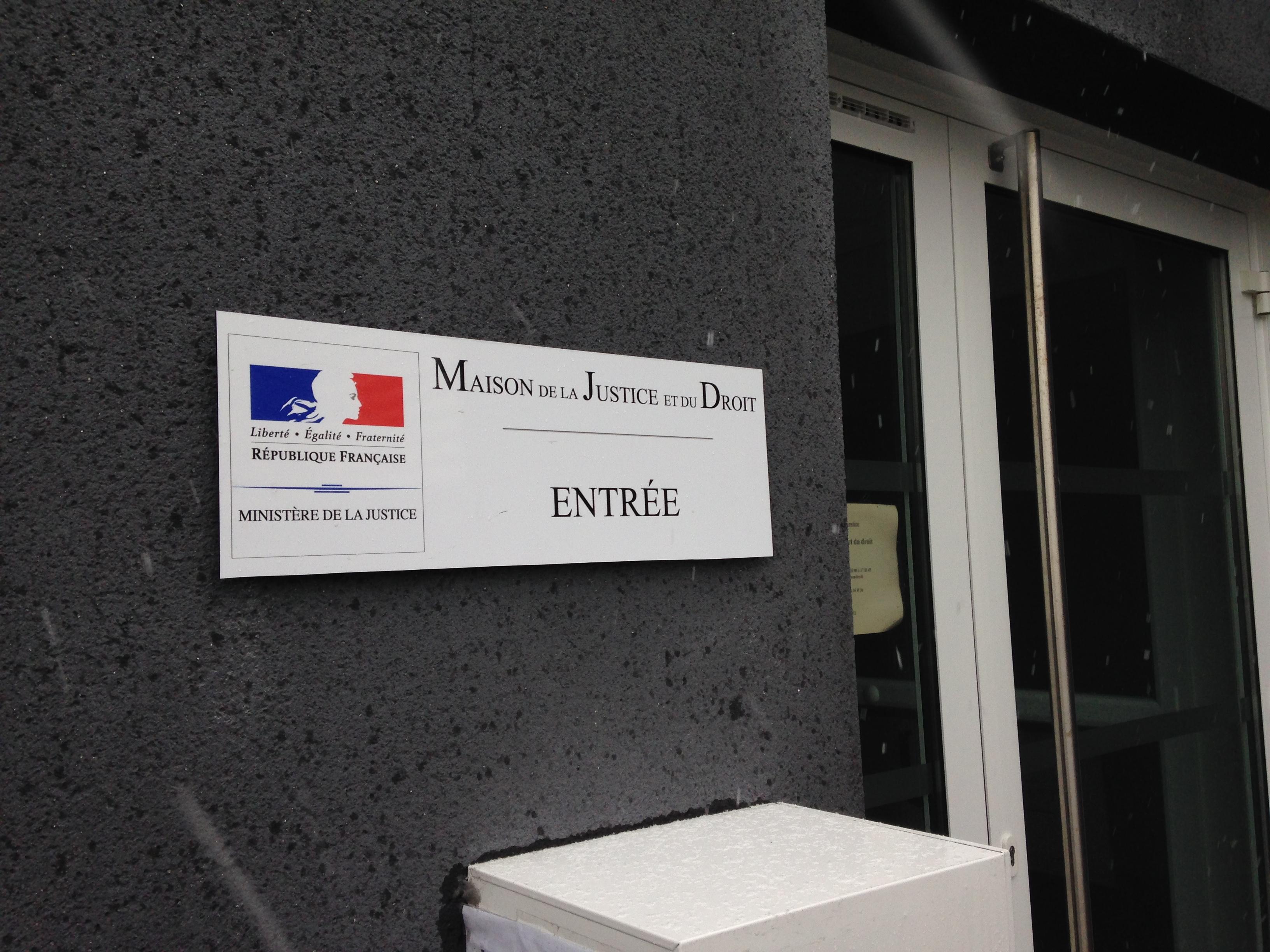 panneau Dybond 3mm sur entretoises Ministère de la Justice Vierzon