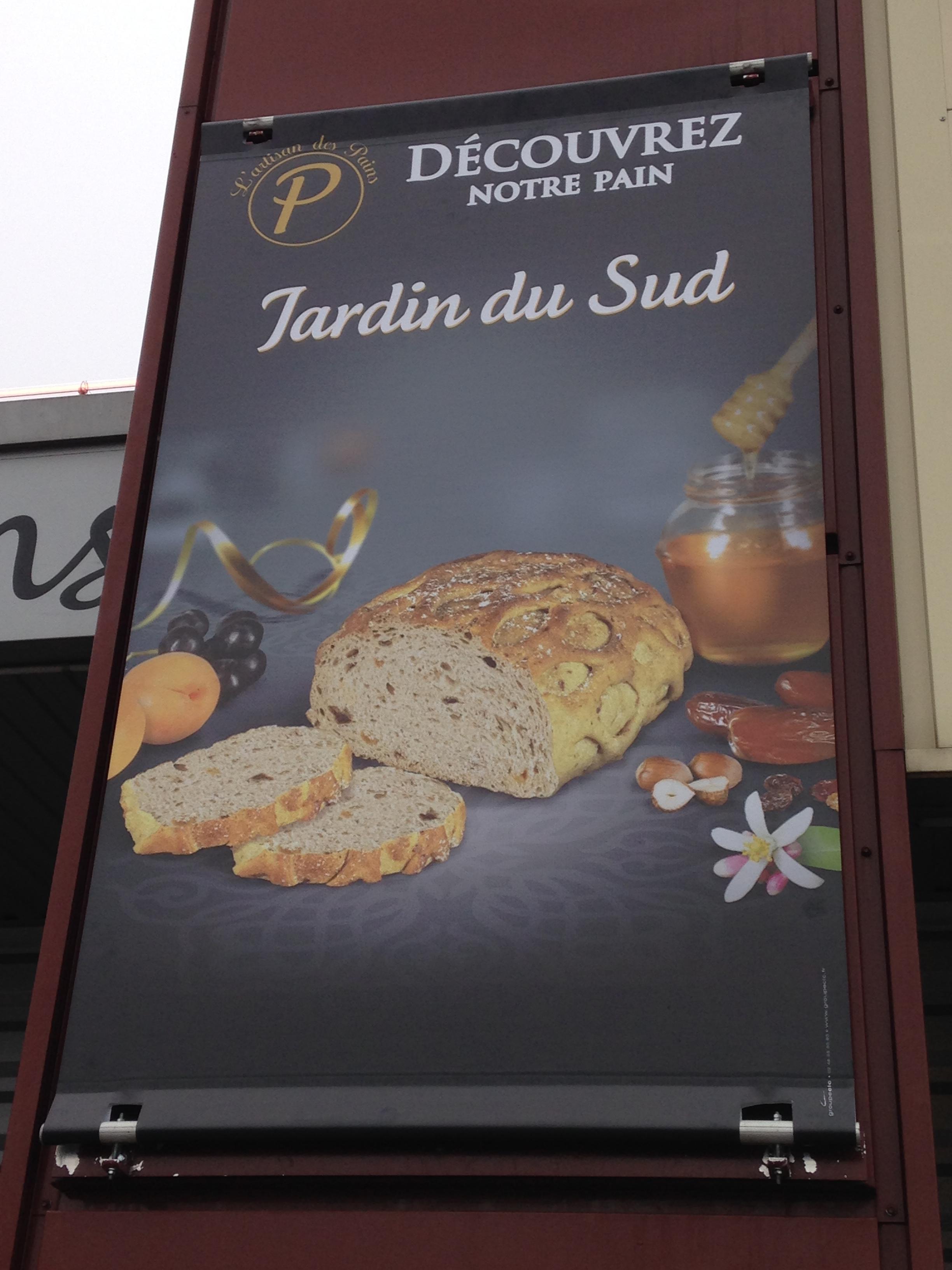 bâche tendue (kakémono) boulangerie Pouillard Saint Germain du Puy