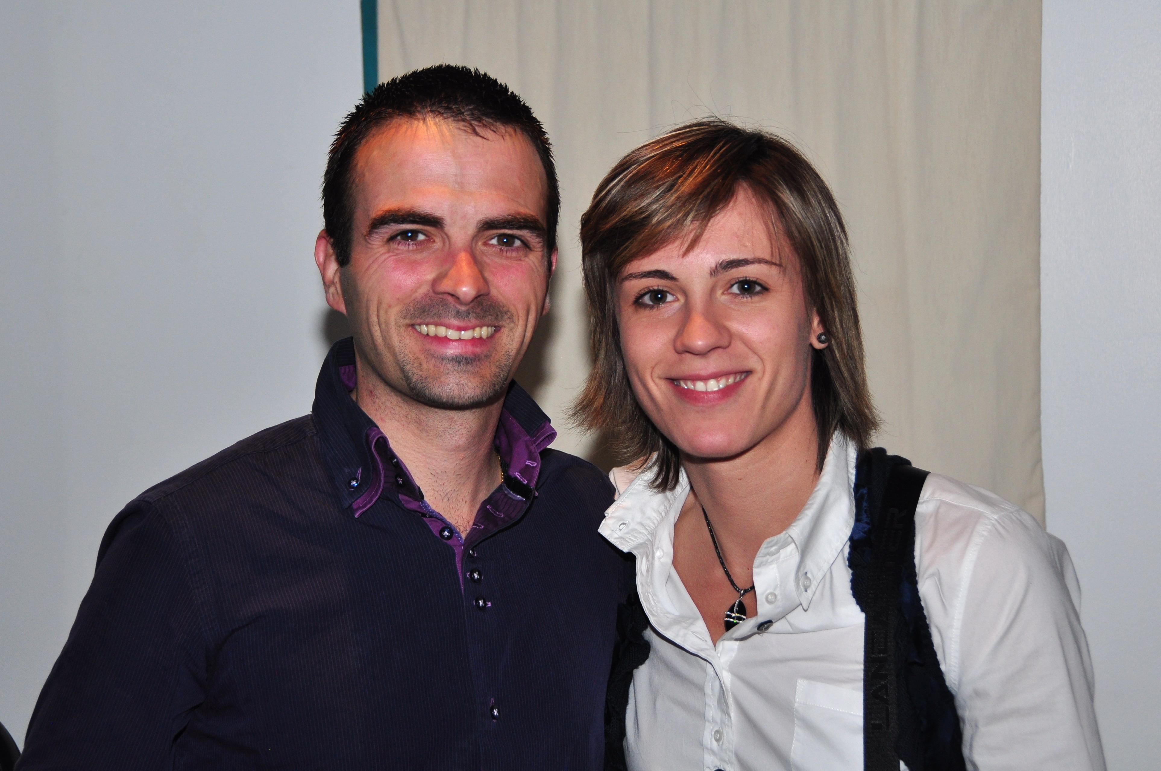Cyril Auclin avec Céline Dumerc, de retour à Bourges en mai 2011