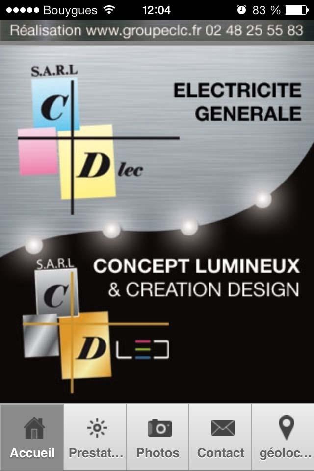 application smartphone - électricité générale et décorative - Cdlec - Bourges