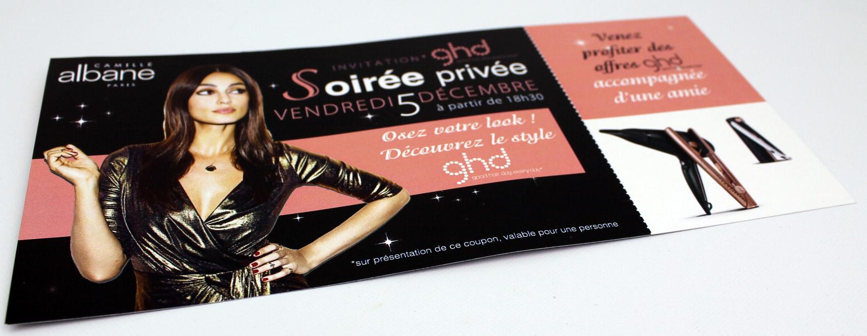invitation soirée privé Camille Albane Bourges