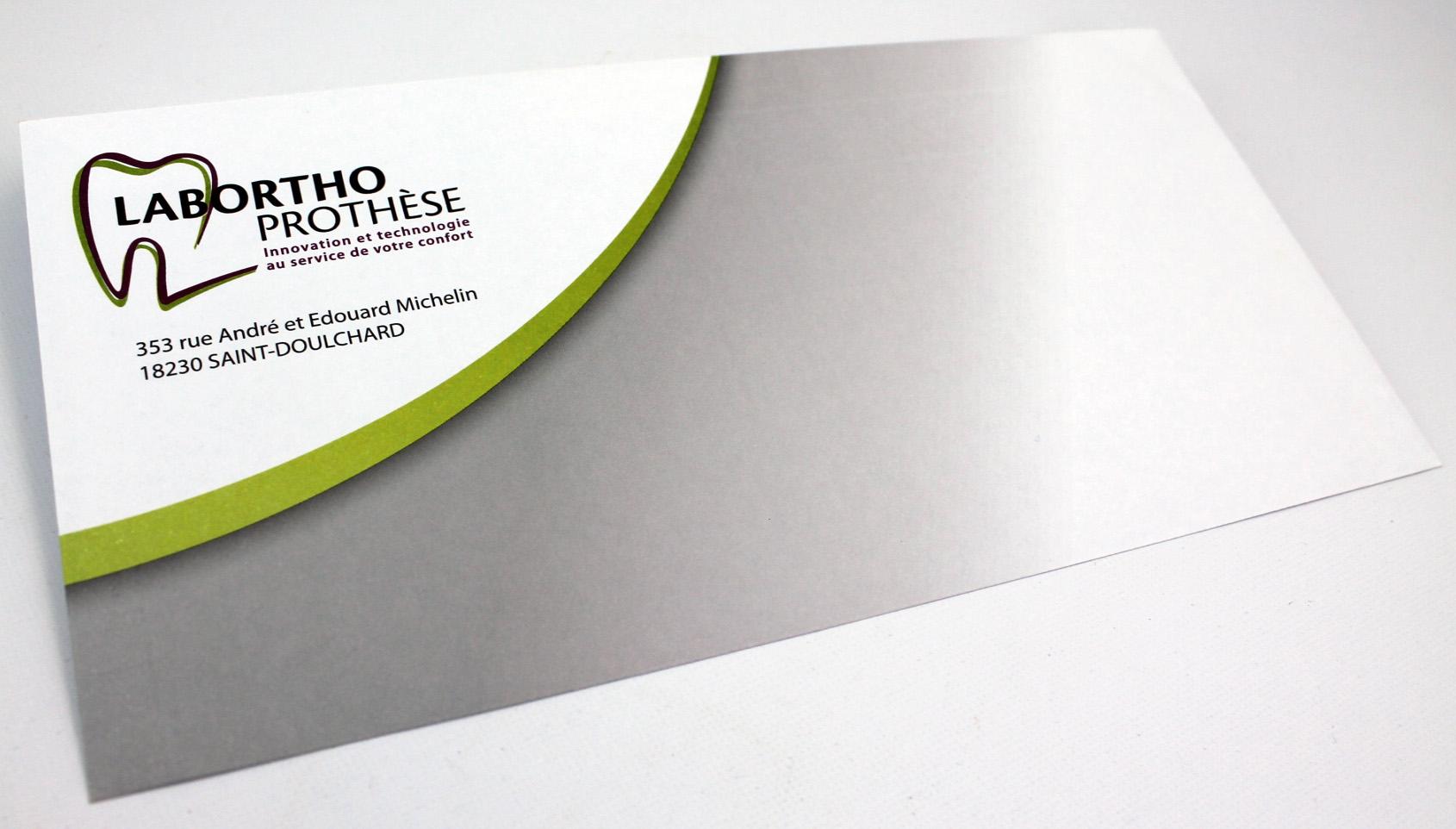 enveloppe personnalisée Labortho Prothèse