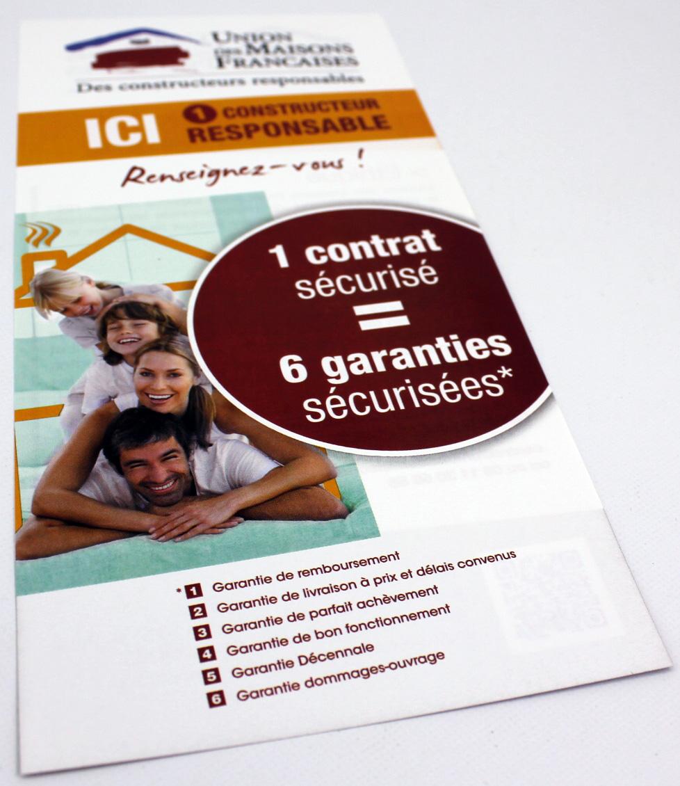 flyer 10 x 21 Union des Maisons Françaises