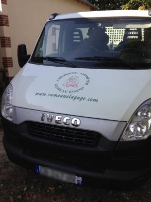 camion benne Rameau Elagage