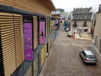bâche tendue (kakémono) centre commercial Avaricum Bourges
