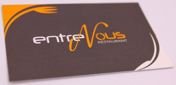 carte de visite pelliculage mat Restaurant Entre Nous Bourges