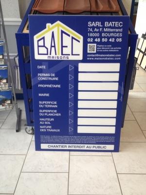 permis de construire en Polypropilène alvéolaire (Akilux) BATEC Bourges