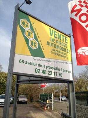 4x3 contre collage vinyle polymère plastifié GTB Bourges
