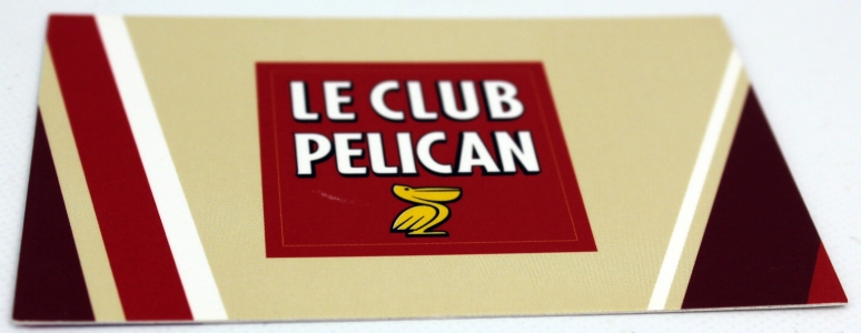 carte de visite peliculage mat Brasserie Le Club Pélican