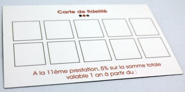 carte de fidélité Le Temps d'une Pause Saint Germain du Puy