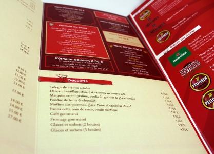 carte de restaurant Le Club Pélican Saint Doulchard
