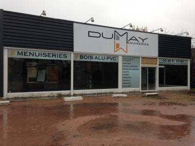 Impression sur Dybond (vitrine polymère intérieure) Dumay Menuiserie Saint Amand Mont Rond