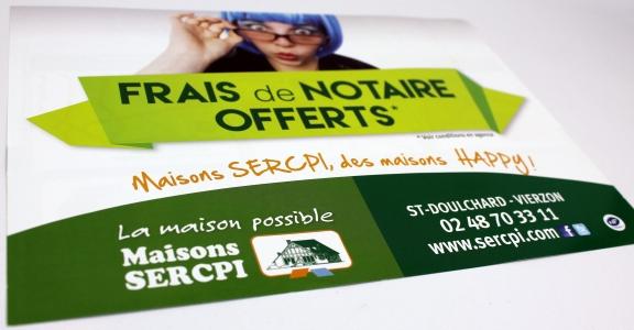 flyer A5 recto verso Maison SERCPI Saint Doulchard