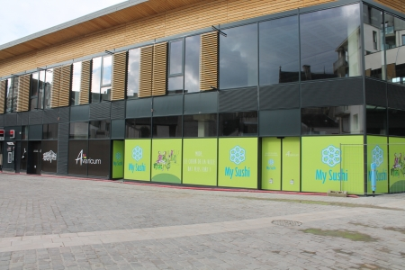 teasing My Suchy (masquage de travaux d'ouverture) centre commercial Avaricum Bourges