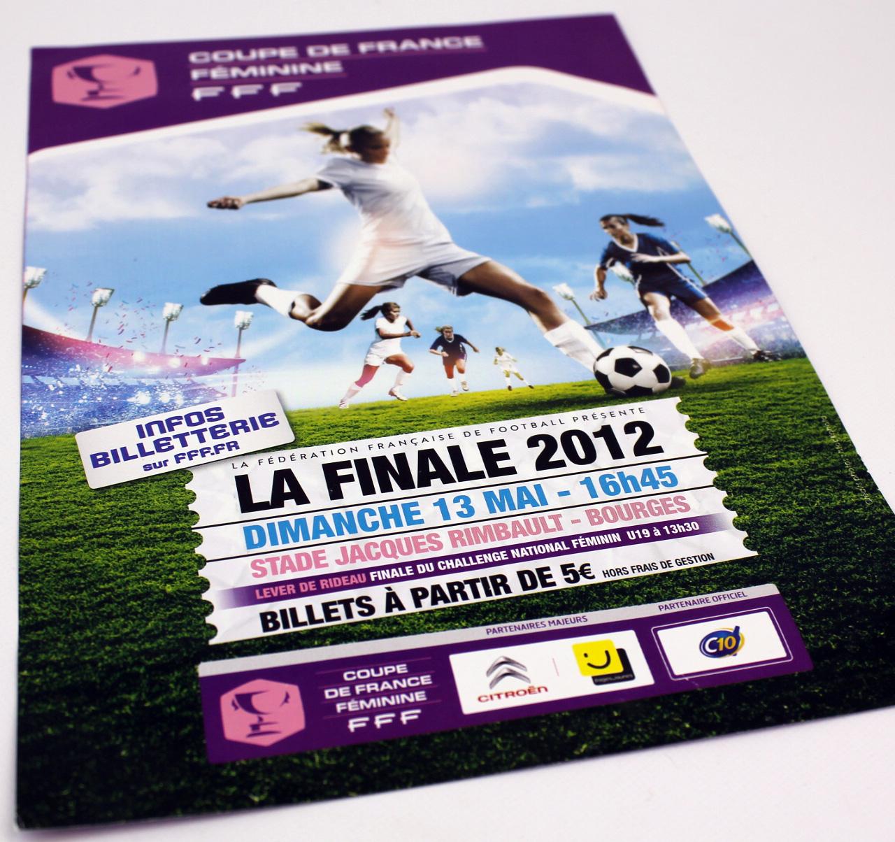 Affiche A1 + Flyer A5 pour la Fédération Française de Football