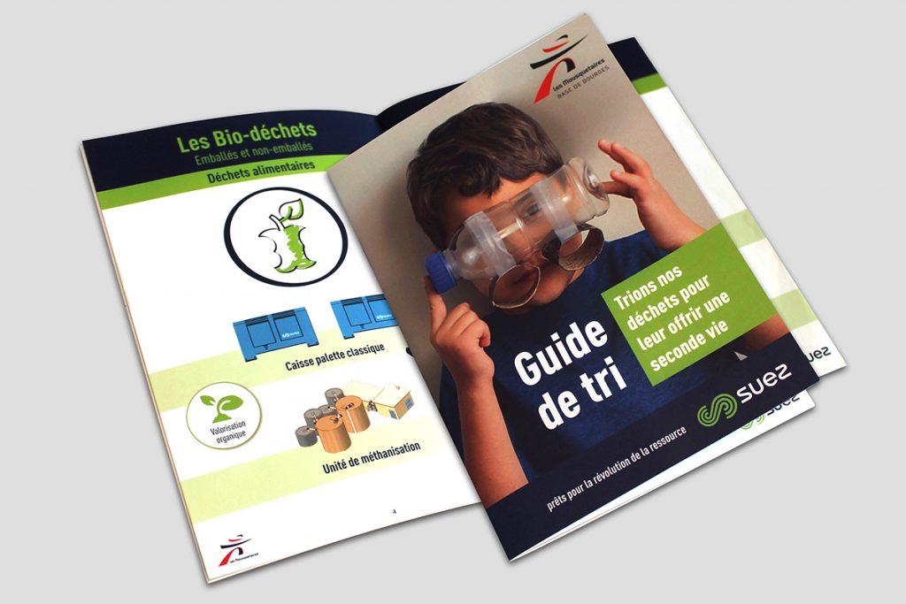 Le Groupe CLC conçoit des livrets pour la communication institutionnelle, livret Suez